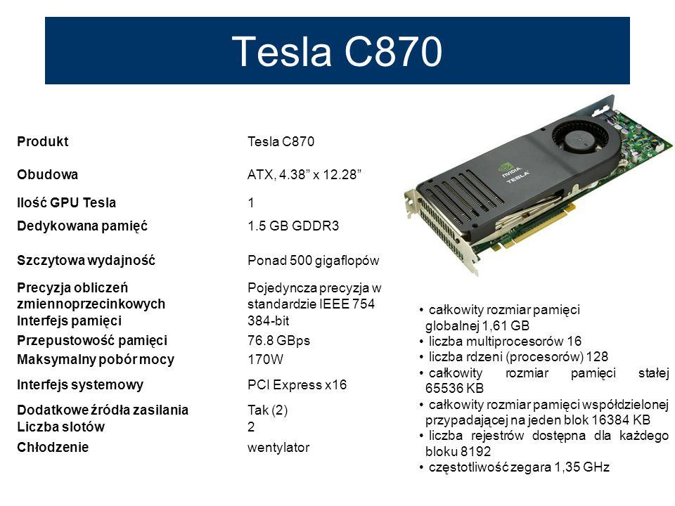 Tesla C870 Produkt Tesla C870 Obudowa ATX, 4.38 x 12.28