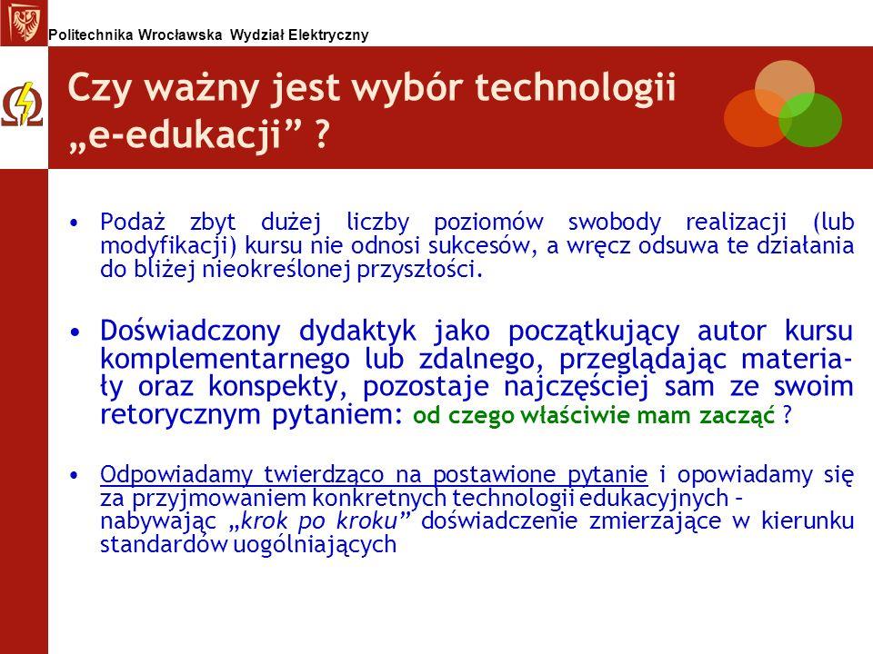 """Czy ważny jest wybór technologii """"e-edukacji"""
