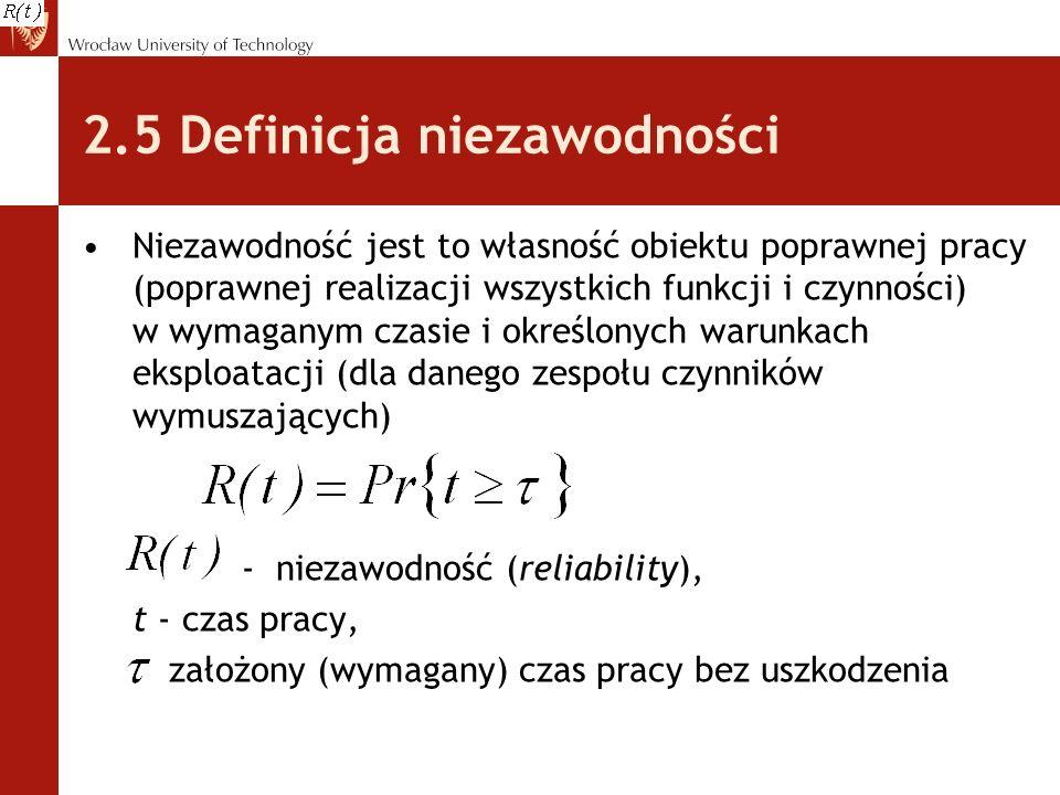 2.5 Definicja niezawodności