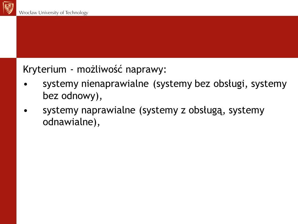 Kryterium - możliwość naprawy:
