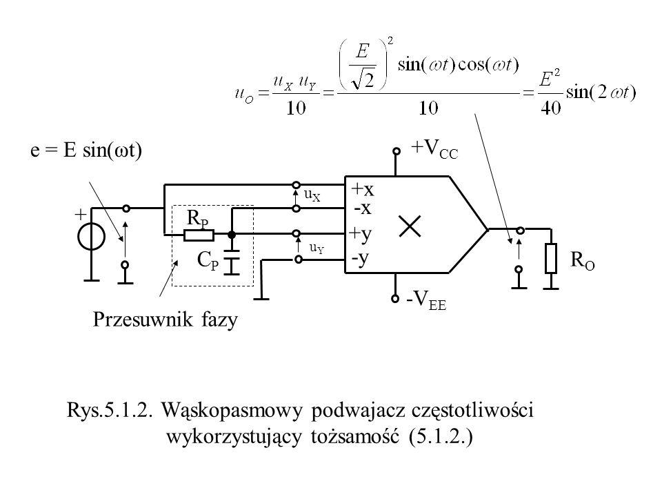 Rys.5.1.2. Wąskopasmowy podwajacz częstotliwości