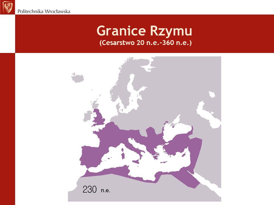 Granice Rzymu (Cesarstwo 20 n.e.-360 n.e.)