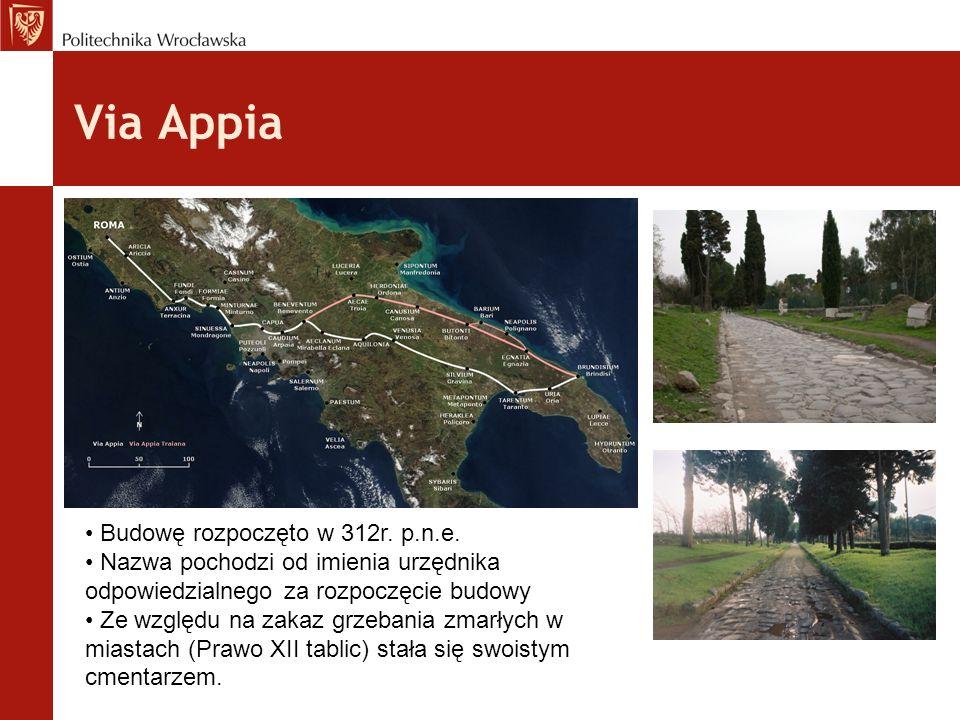 Via Appia Budowę rozpoczęto w 312r. p.n.e.
