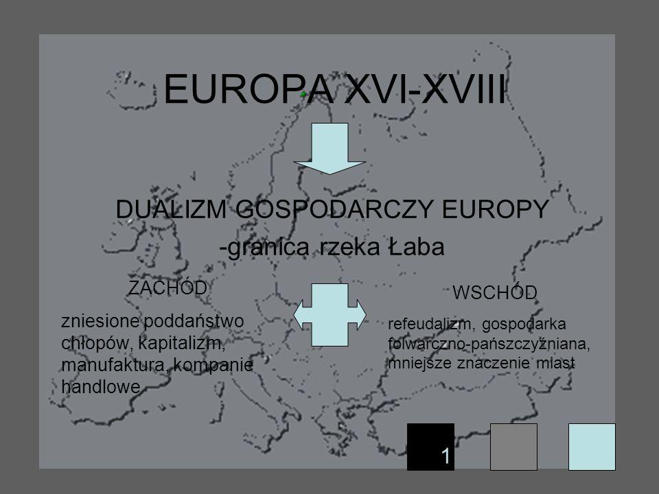 DUALIZM GOSPODARCZY EUROPY -granica rzeka Łaba