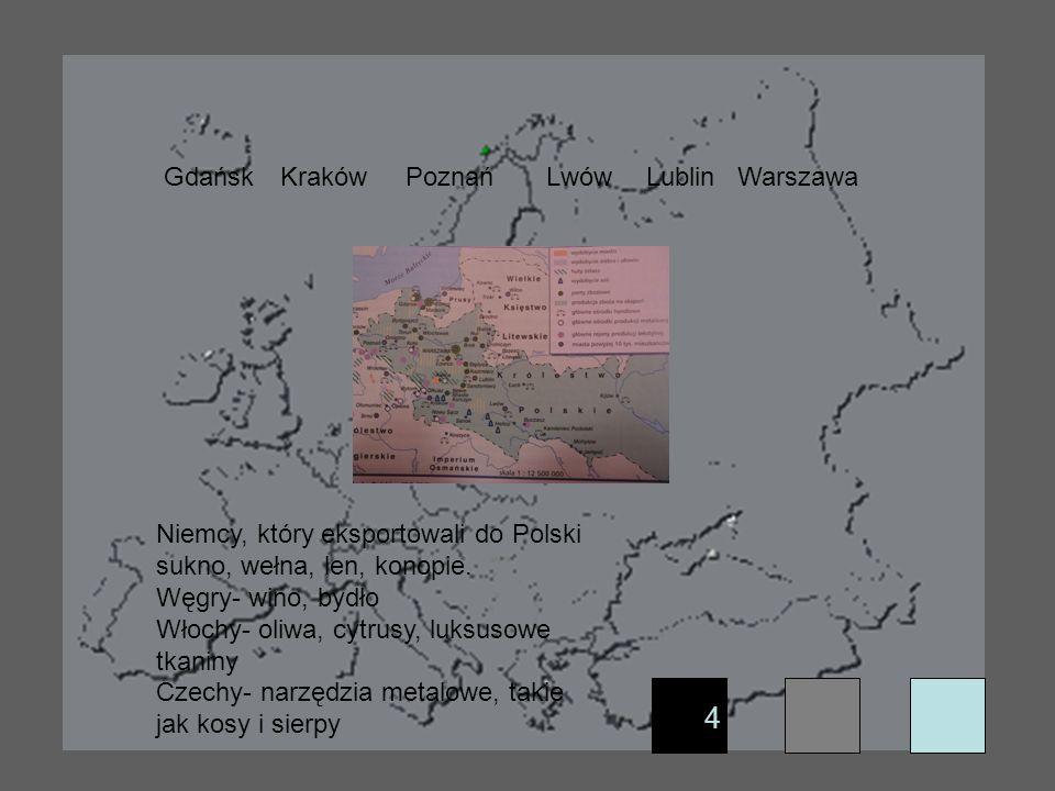 4 Gdańsk Kraków Poznań Lwów Lublin Warszawa