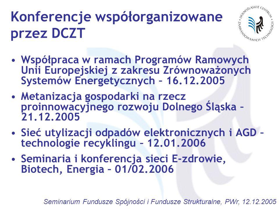 Konferencje współorganizowane przez DCZT