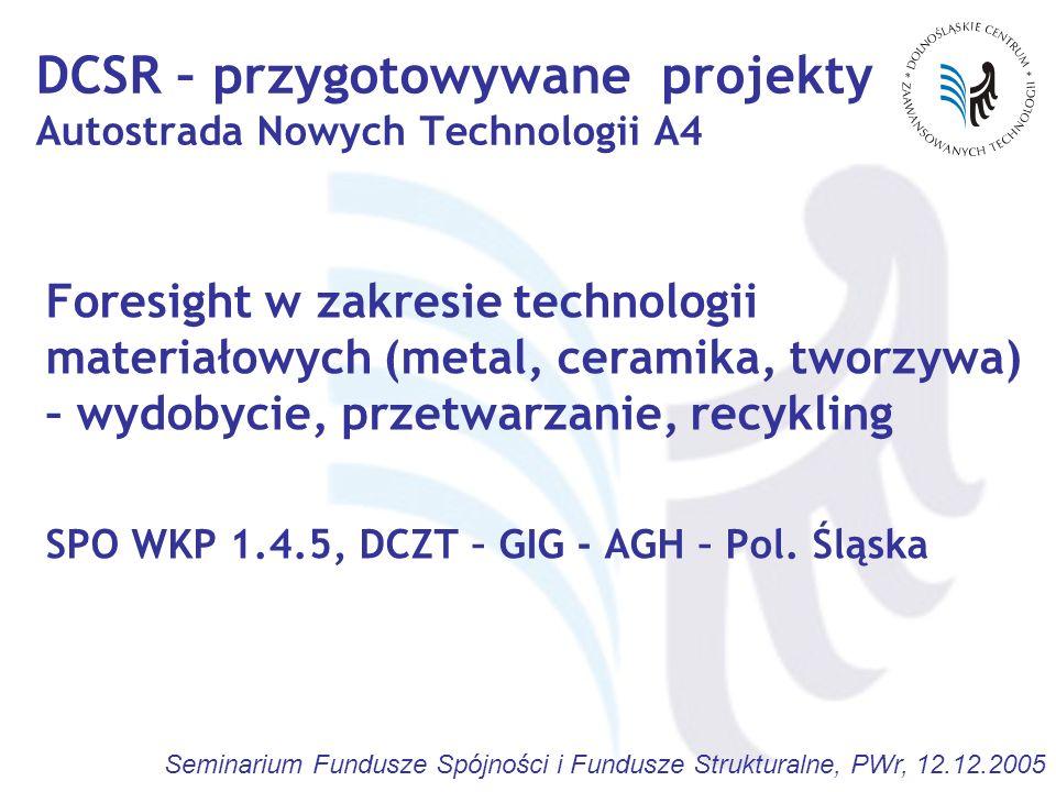 DCSR – przygotowywane projekty Autostrada Nowych Technologii A4