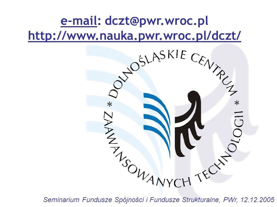 e-mail: dczt@pwr.wroc.pl http://www.nauka.pwr.wroc.pl/dczt/