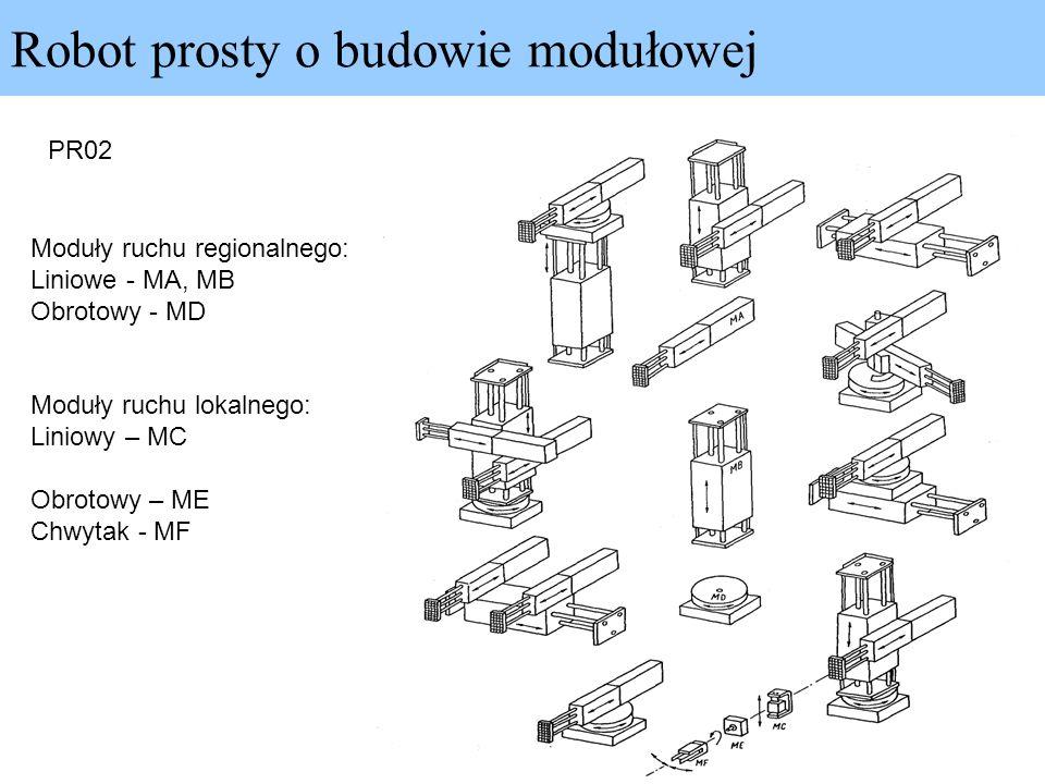 Robot prosty o budowie modułowej