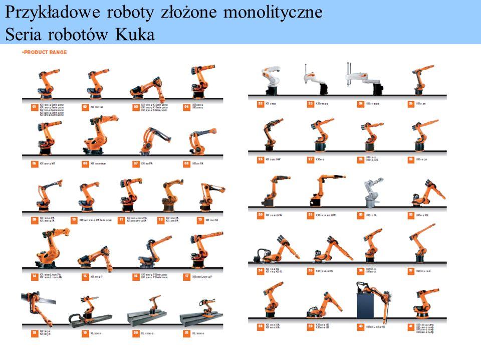 Przykładowe roboty złożone monolityczne Seria robotów Kuka