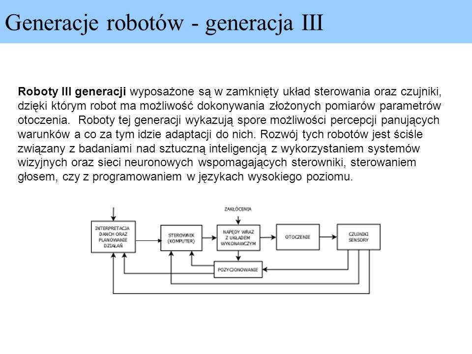 Generacje robotów - generacja III