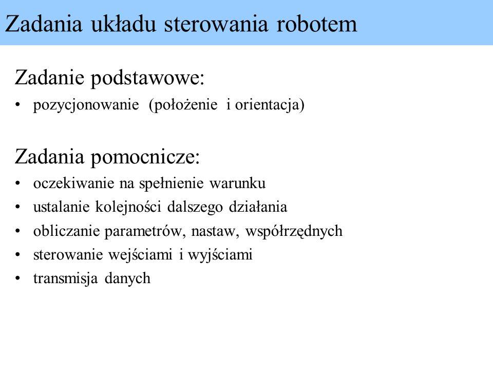 Zadania układu sterowania robotem