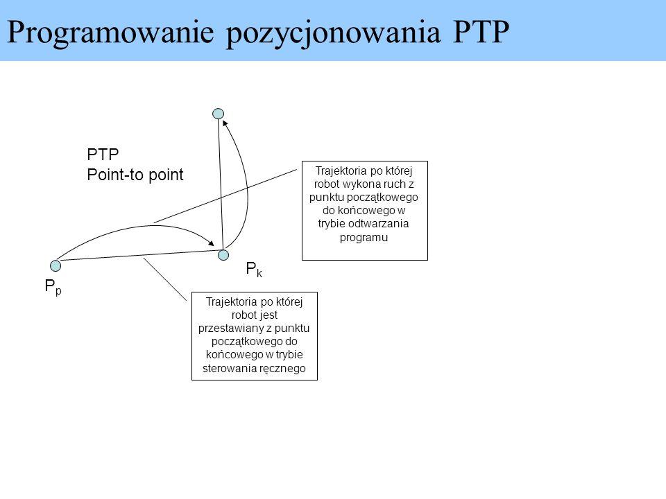 Programowanie pozycjonowania PTP