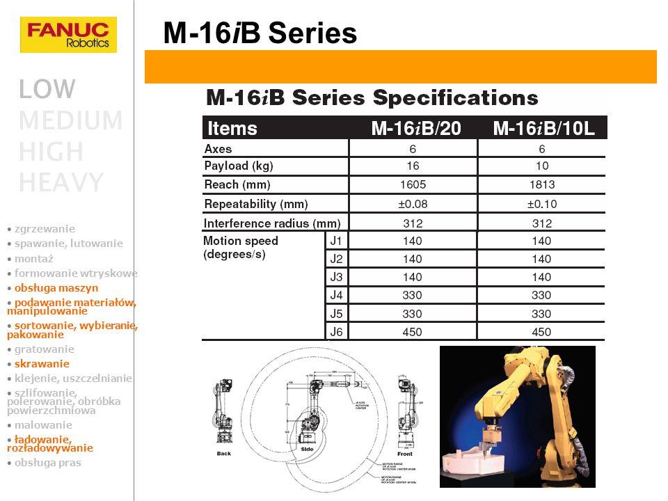 M-16iB Series LOW MEDIUM HIGH HEAVY zgrzewanie spawanie, lutowanie