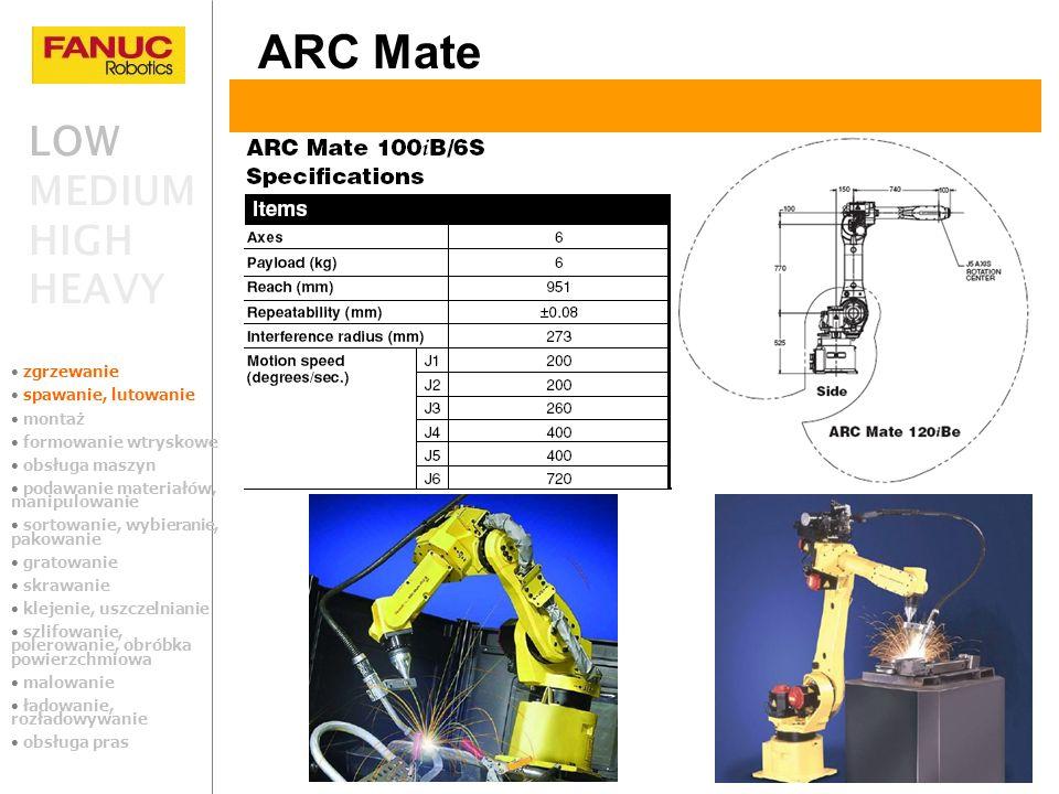 ARC Mate LOW MEDIUM HIGH HEAVY zgrzewanie spawanie, lutowanie montaż