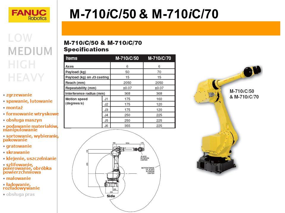 M-710iC/50 & M-710iC/70 LOW MEDIUM HIGH HEAVY zgrzewanie
