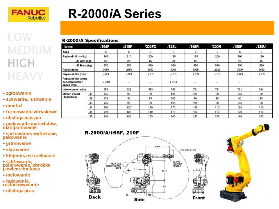 R-2000iA Series LOW MEDIUM HIGH HEAVY zgrzewanie spawanie, lutowanie