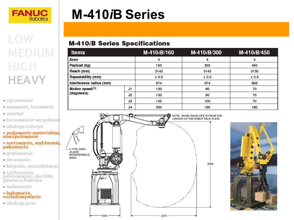 M-410iB Series LOW MEDIUM HIGH HEAVY zgrzewanie spawanie, lutowanie