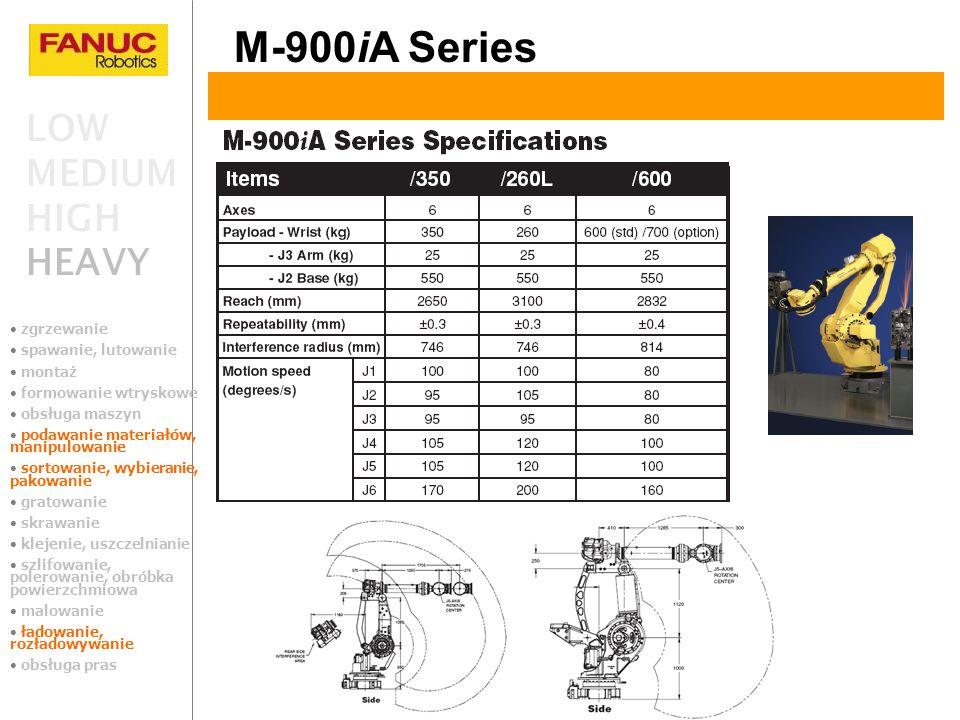 M-900iA Series LOW MEDIUM HIGH HEAVY zgrzewanie spawanie, lutowanie