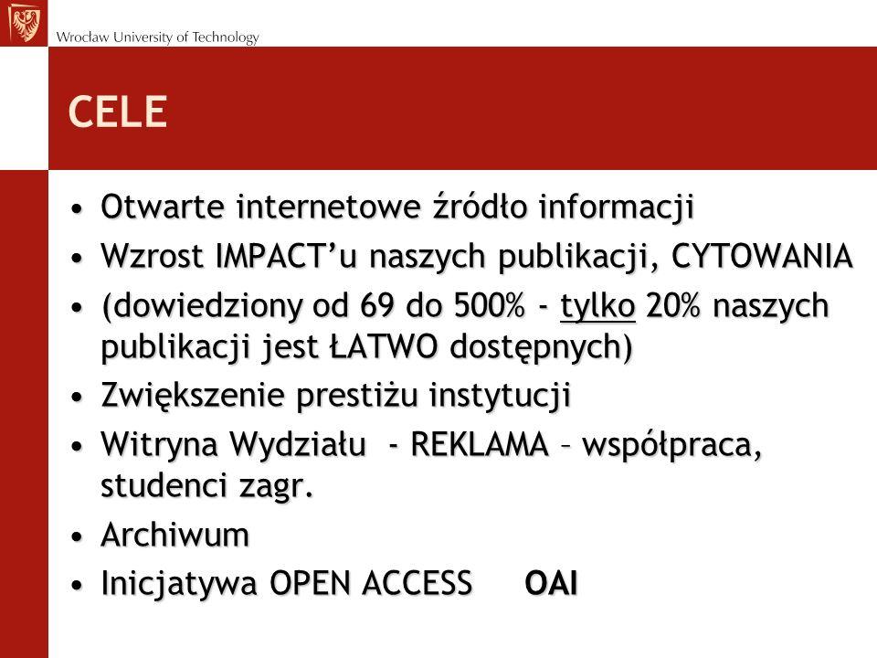 CELE Otwarte internetowe źródło informacji