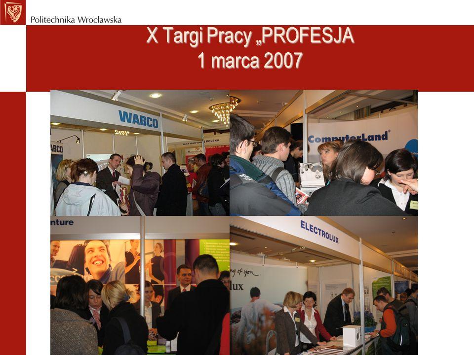 "X Targi Pracy ""PROFESJA 1 marca 2007"