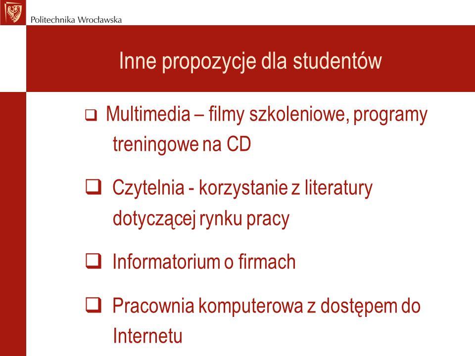 Inne propozycje dla studentów