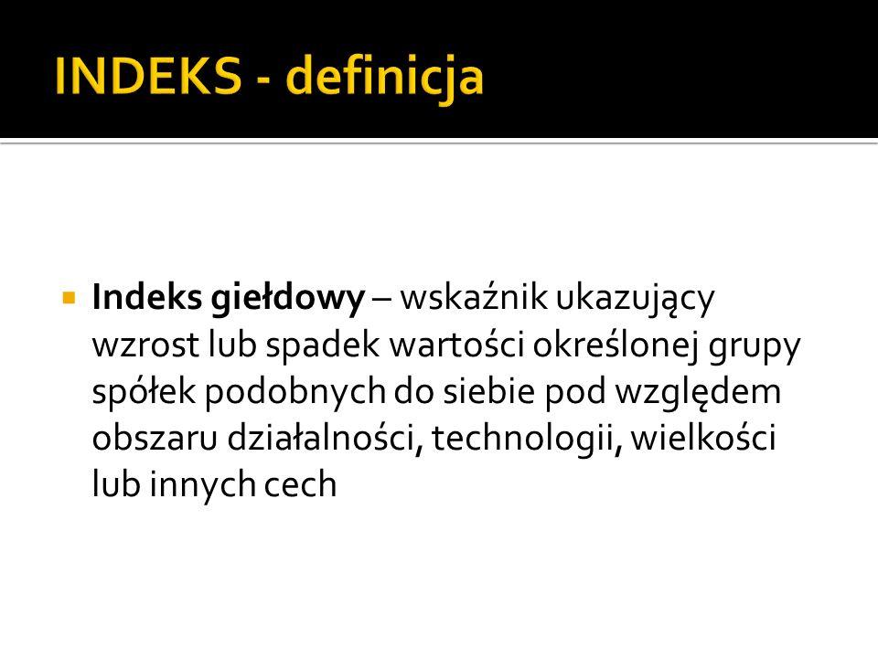 INDEKS - definicja