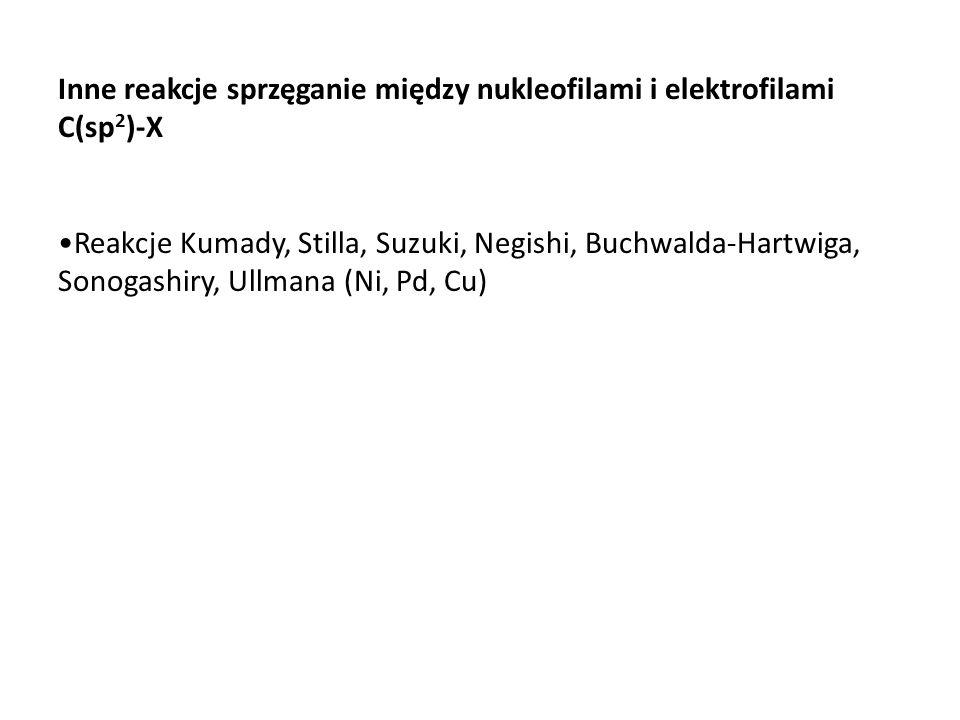 Inne reakcje sprzęganie między nukleofilami i elektrofilami C(sp2)-X