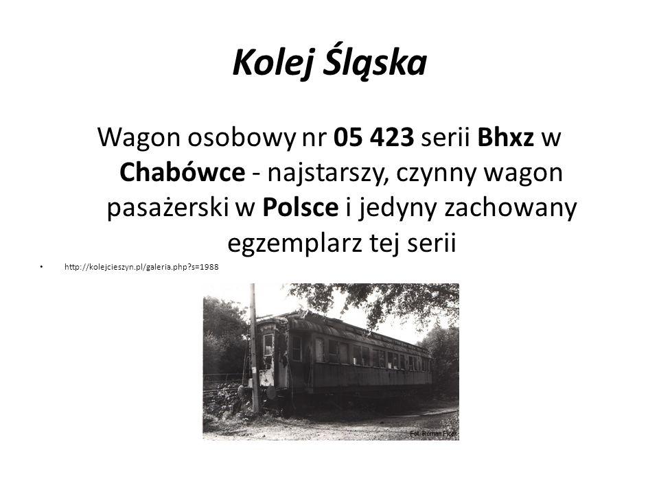 Kolej Śląska Wagon osobowy nr 05 423 serii Bhxz w Chabówce - najstarszy, czynny wagon pasażerski w Polsce i jedyny zachowany egzemplarz tej serii.
