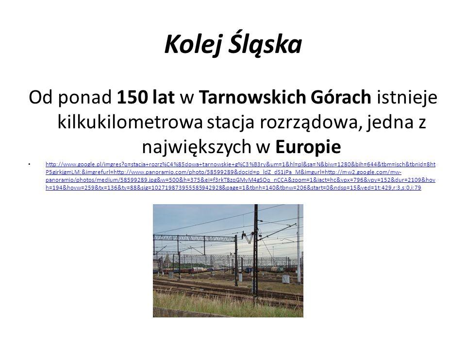 Kolej Śląska Od ponad 150 lat w Tarnowskich Górach istnieje kilkukilometrowa stacja rozrządowa, jedna z największych w Europie.
