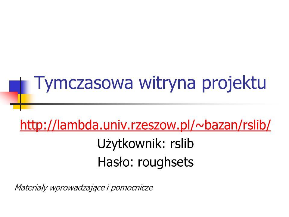 Tymczasowa witryna projektu