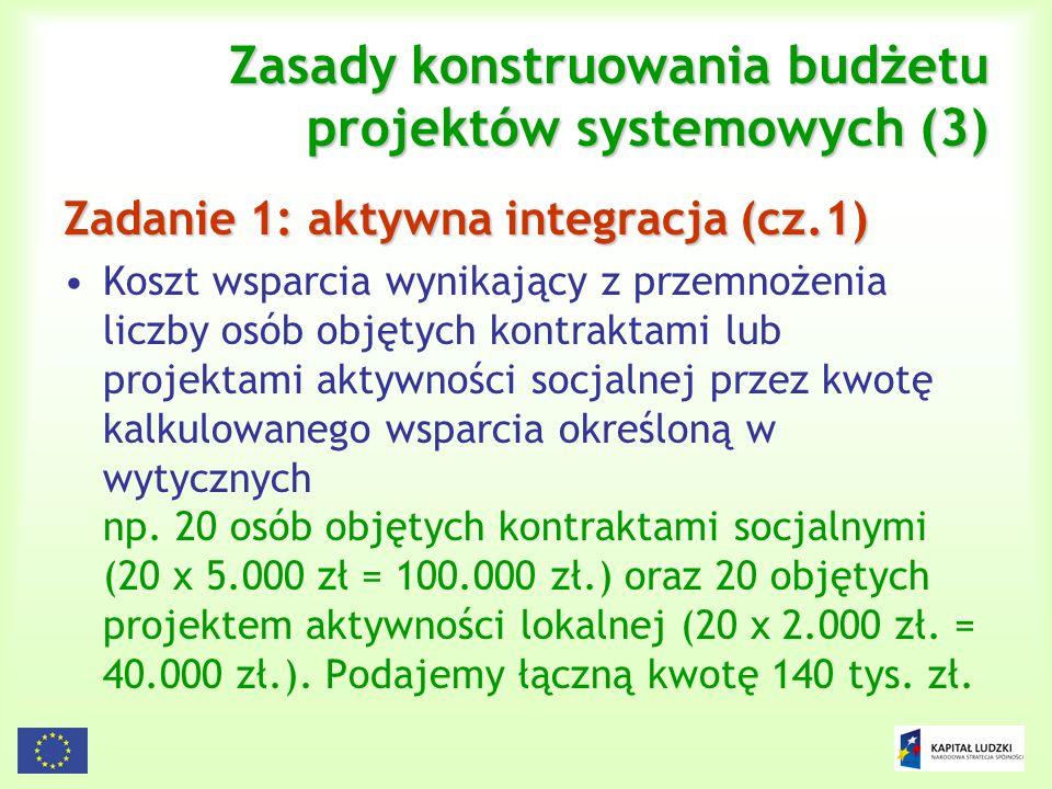 Zasady konstruowania budżetu projektów systemowych (3)