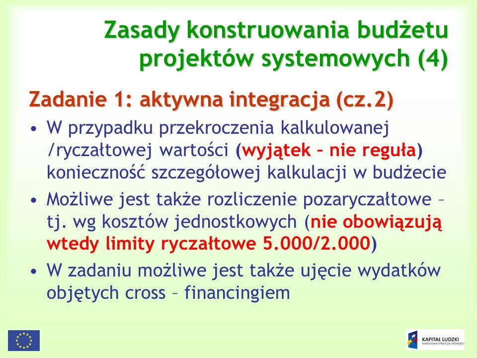 Zasady konstruowania budżetu projektów systemowych (4)
