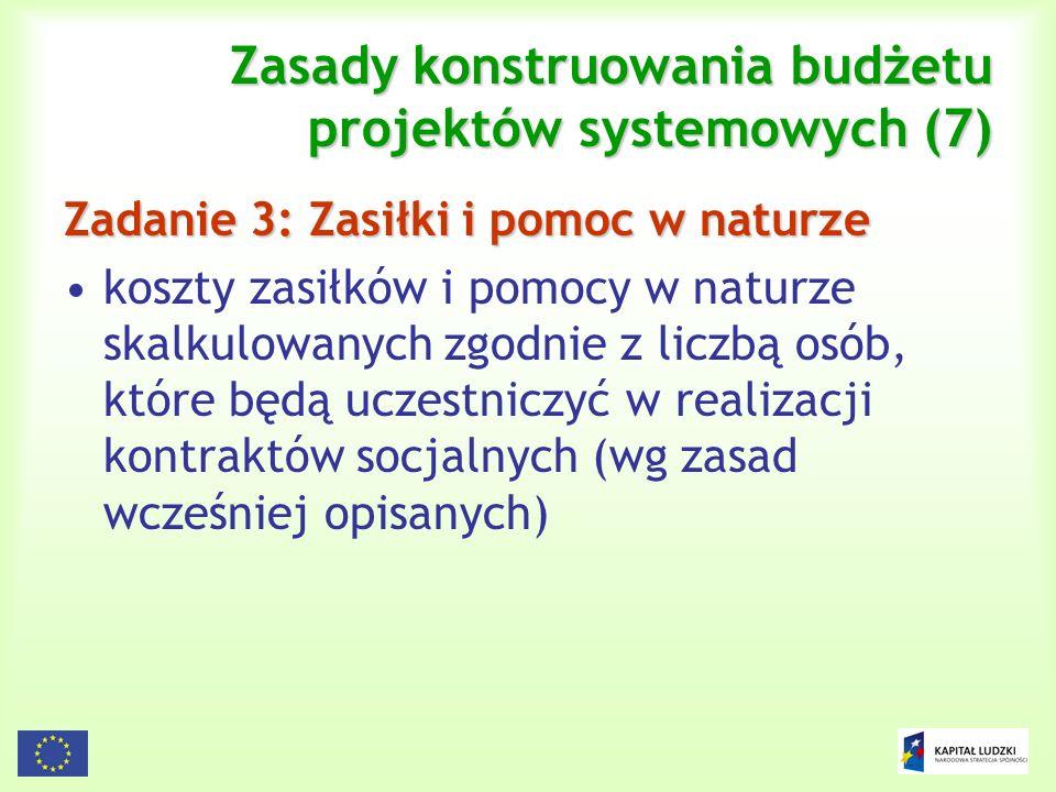 Zasady konstruowania budżetu projektów systemowych (7)