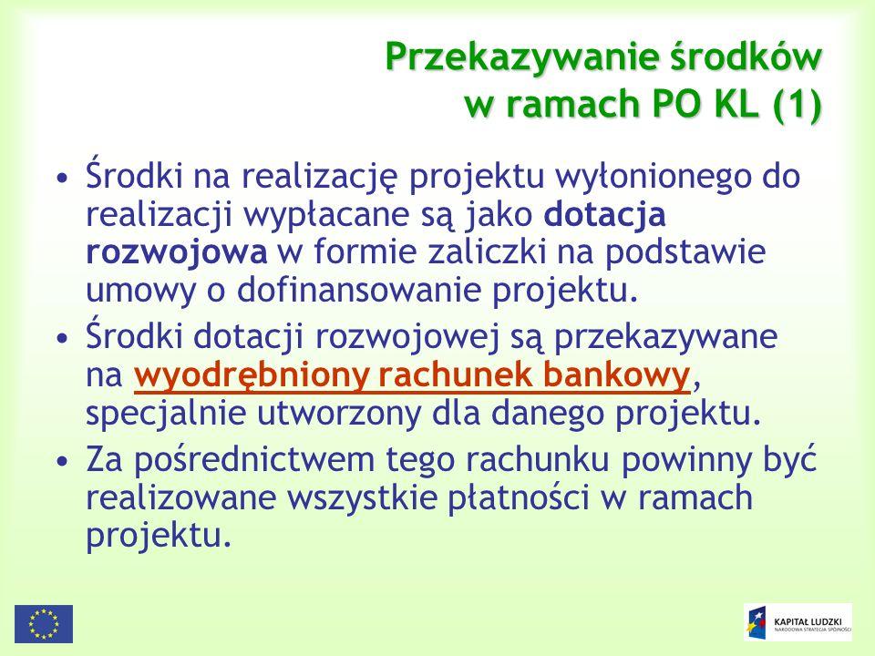 Przekazywanie środków w ramach PO KL (1)