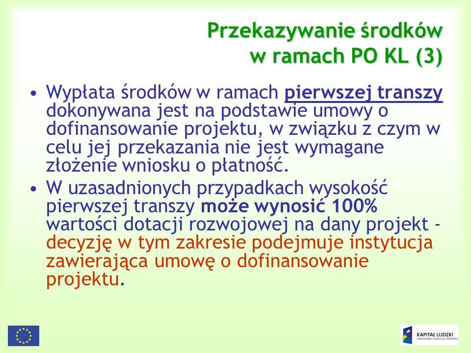 Przekazywanie środków w ramach PO KL (3)