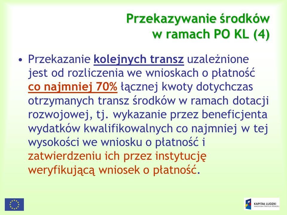Przekazywanie środków w ramach PO KL (4)