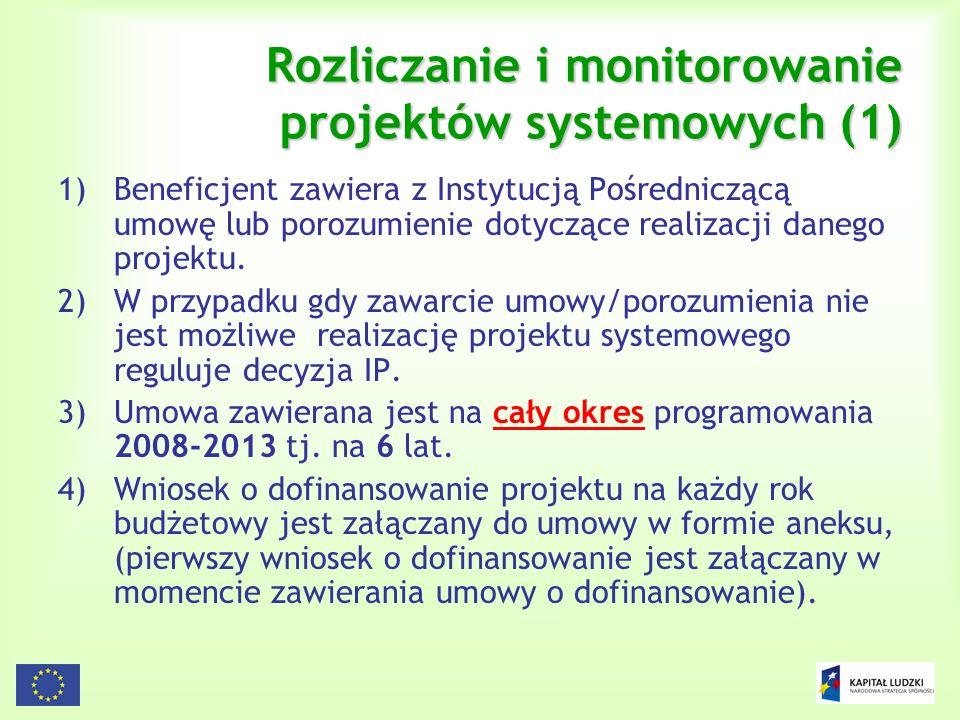 Rozliczanie i monitorowanie projektów systemowych (1)