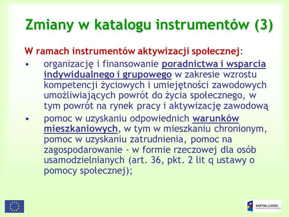 Zmiany w katalogu instrumentów (3)
