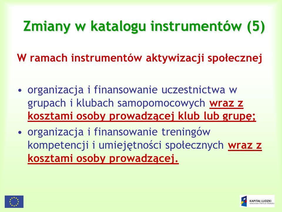 Zmiany w katalogu instrumentów (5)