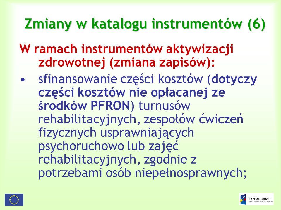 Zmiany w katalogu instrumentów (6)