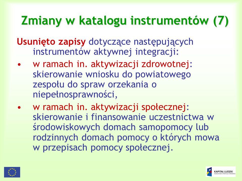 Zmiany w katalogu instrumentów (7)