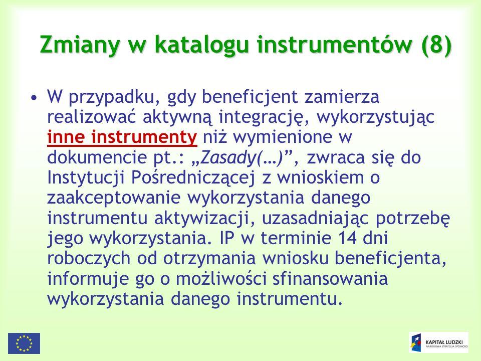 Zmiany w katalogu instrumentów (8)