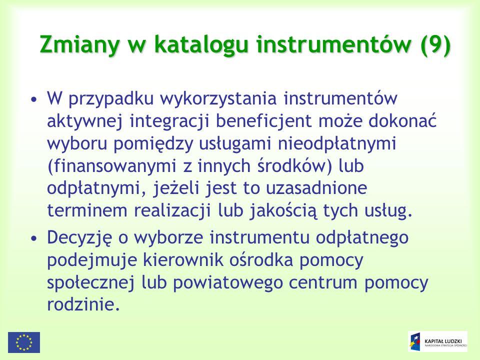 Zmiany w katalogu instrumentów (9)
