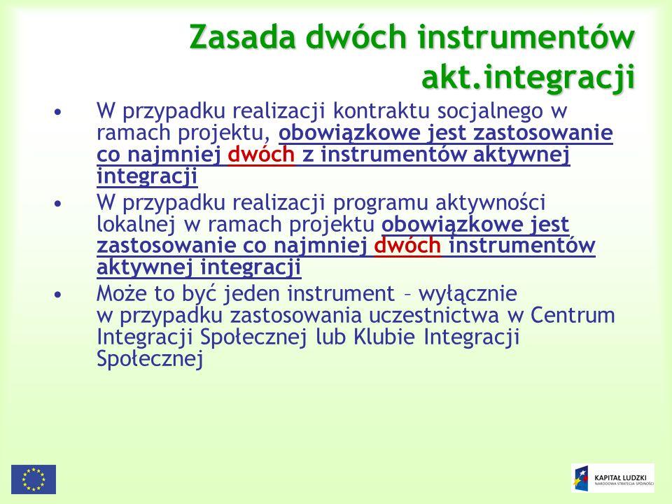 Zasada dwóch instrumentów akt.integracji