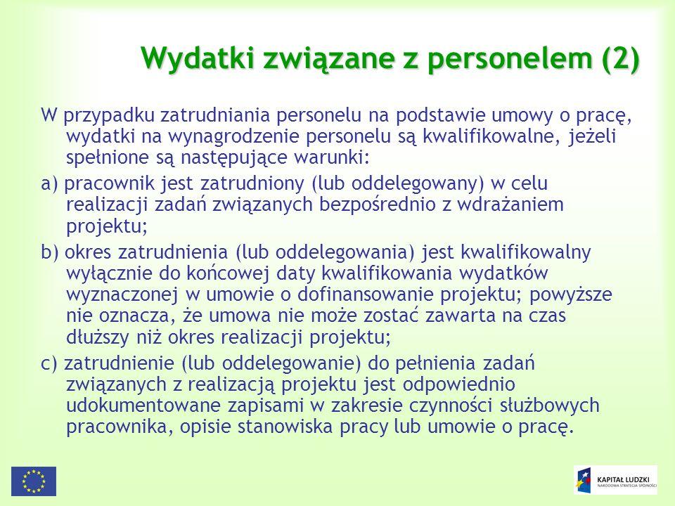 Wydatki związane z personelem (2)