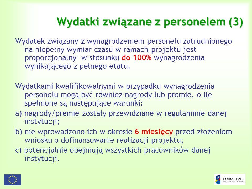 Wydatki związane z personelem (3)