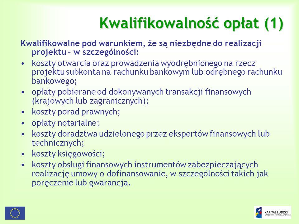 Kwalifikowalność opłat (1)