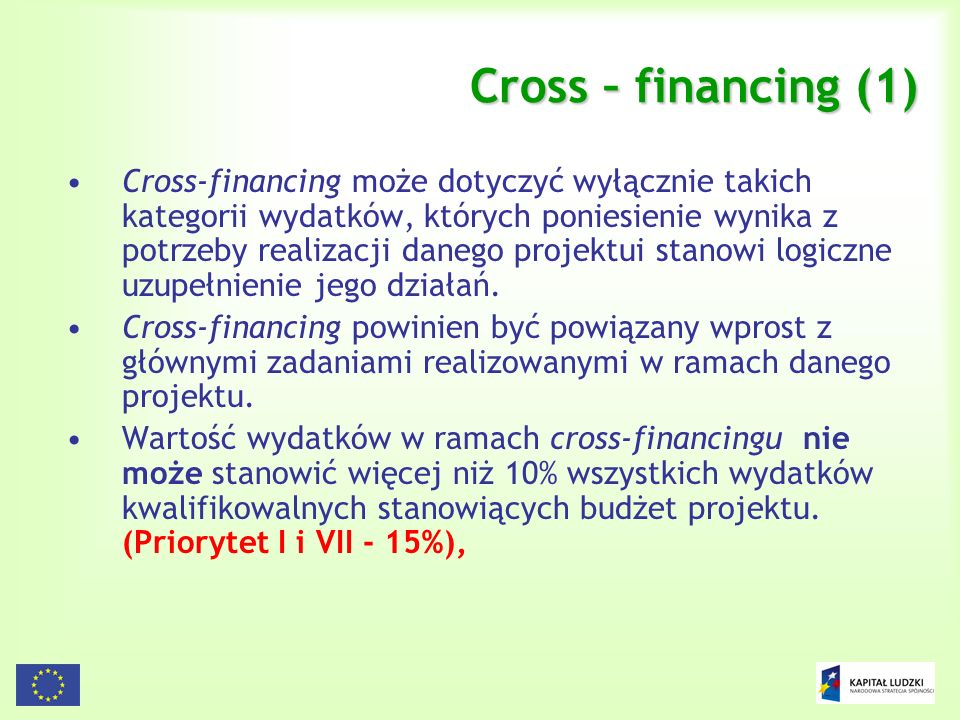 Cross – financing (1)