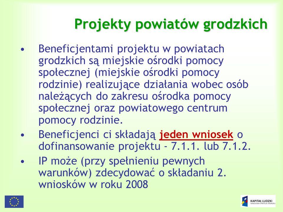 Projekty powiatów grodzkich